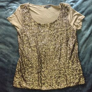 Jeans by Buffalo gold sequin top